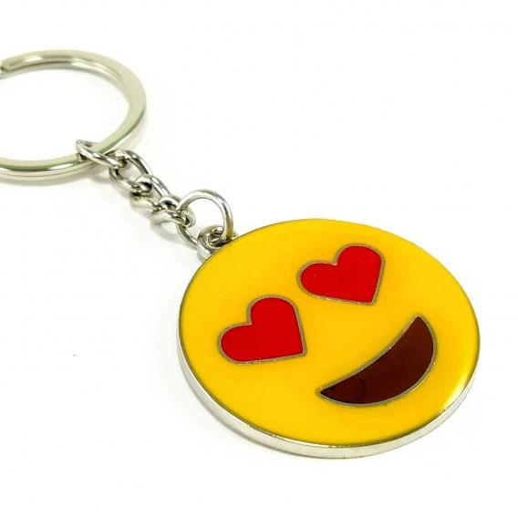 Llavero anilla de emoji corazones sonrisa emoticono whatsapp para hombre y mujer de moda originales