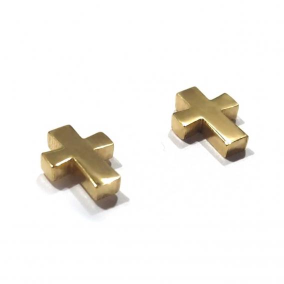 Pendientes de cruz color oro pequeños de moda para mujer en acero inoxidables 2020 regalos