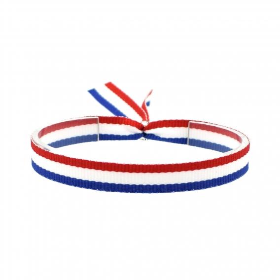 Pulsera bandera Francia de hilo