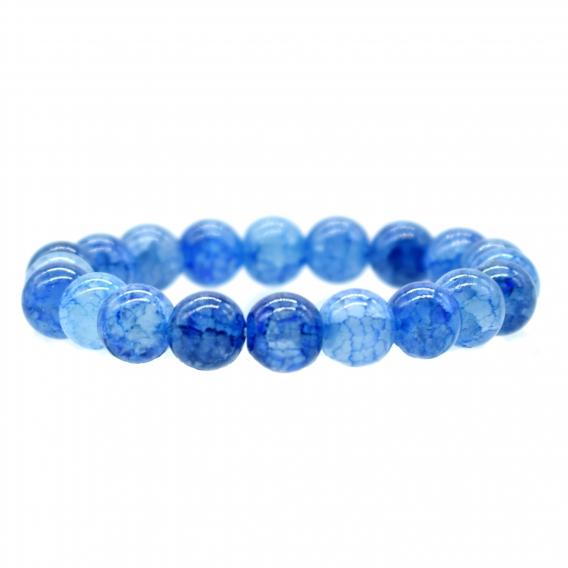 Pulsera de mujer de accesorios de cristal azul