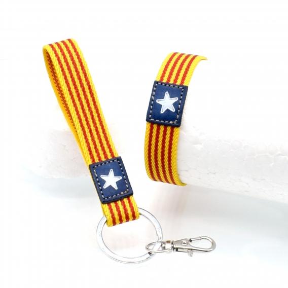 Pulsera y llavero bandera Catalunya, cataluña, elástica.