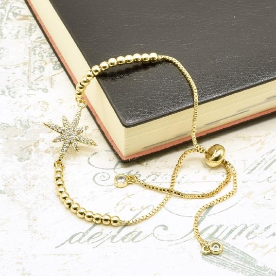 Pulsera de mujer, chapada en oro (Golfi). Un regalo original.