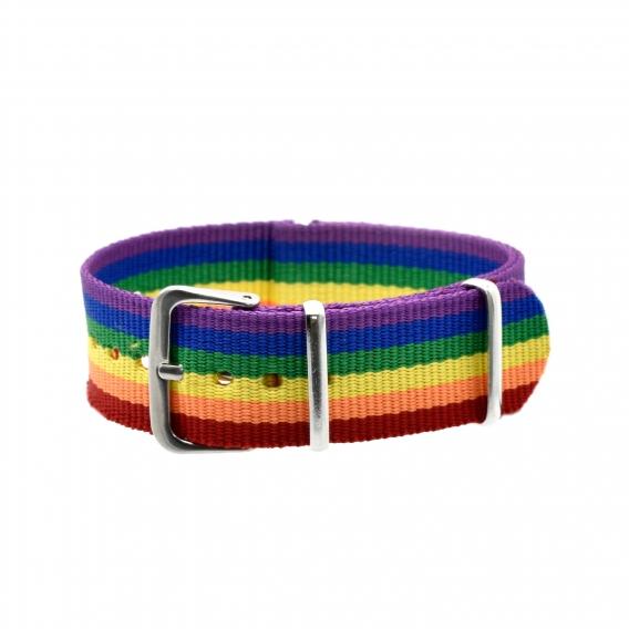 Pulsera lgbt tela, lesbiana, transexual, lgtbi y arcoíris