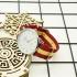 Reloj de pulsera para hombre analógico con la bandera de España, correa de hilo. Un regalo original.