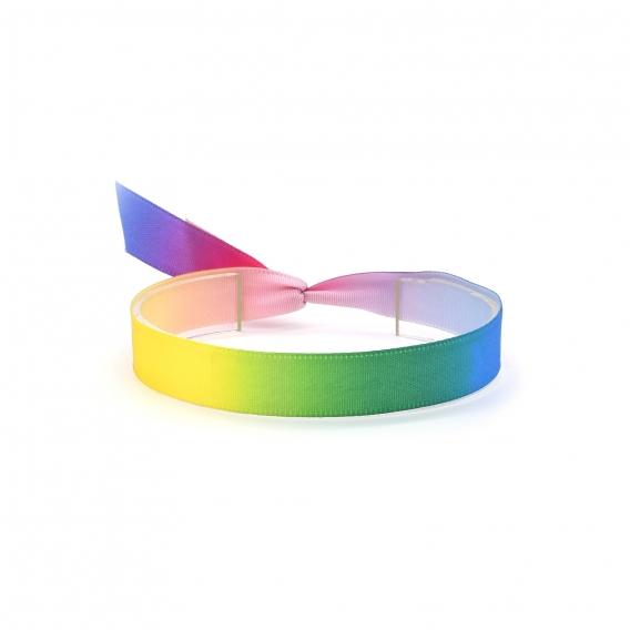 Pulsera de tela multicolor con bandera LGTBI para hombre y mujer, ajustable.