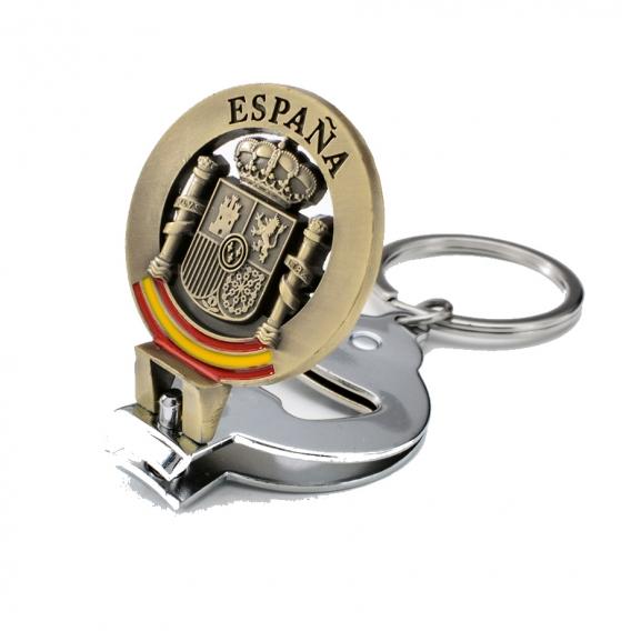 Llavero multiusos con escudo de España para regalos originales