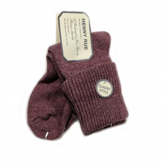 Calcetín granate de algodón para mujer de la talla 35-40