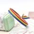 Pulsera de tela, bandera LGTBI, ajustable para hombre y mujer.