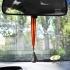 Adorno colgante espejo retrovisor de coche con la bandera de España y Virgen del Roció.