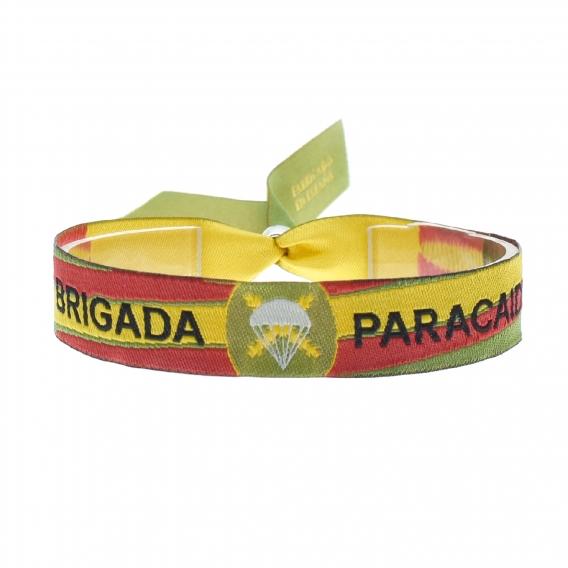 Pulsera tela brigada paracaidas, color militar para hombre y mujer.