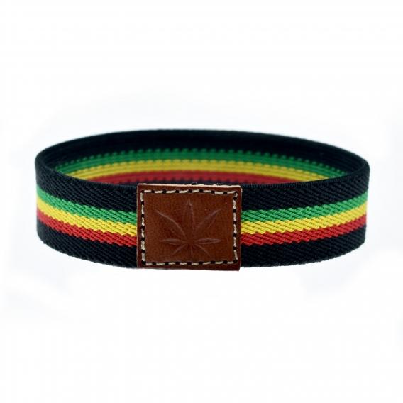 Pulsera elástica Rastafari, reggae Jamaica, para hombre y mujer