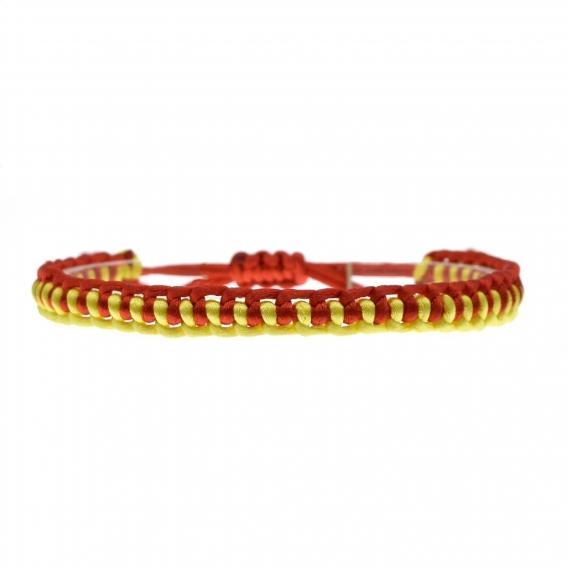 Pulsera de cuerda con la bandera de España, ajustable para hombre y mujer.