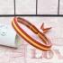 Pulsera elástica con la bandera de España, cinta roja y amarilla, ajustable.
