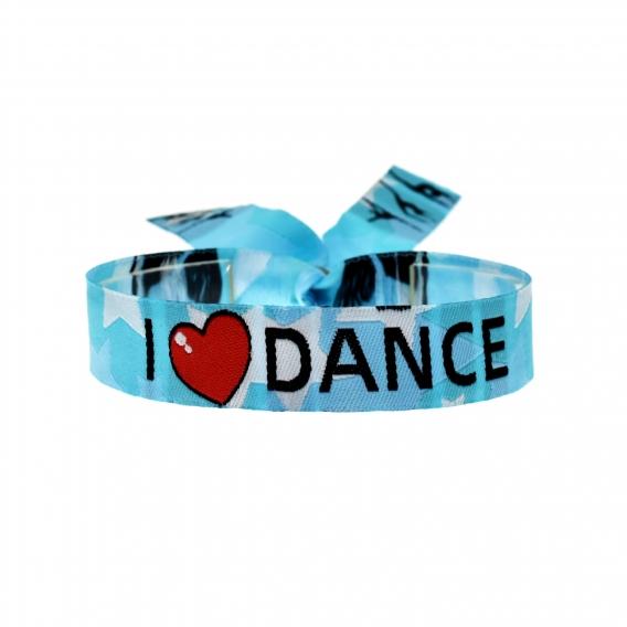 Pulsera de danza y baile, joyería de danza en tela, regalo para recitales de baile y ballet.