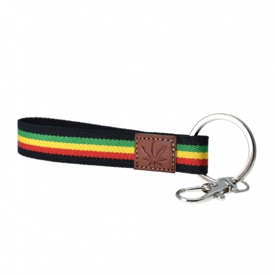 Llavero elástico de bandera Jamaica. Llavero original para regalo