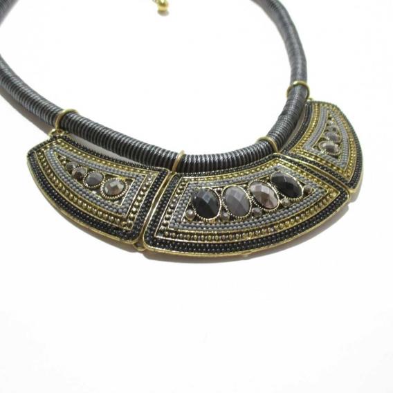 Collar etnico babero fashion vintage retro para mujer accesorios bisuteria colgantes