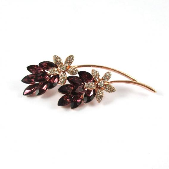 Broche para mujer alfiler LacerCrill de petalos y cristal facetado original moda regalos jersey