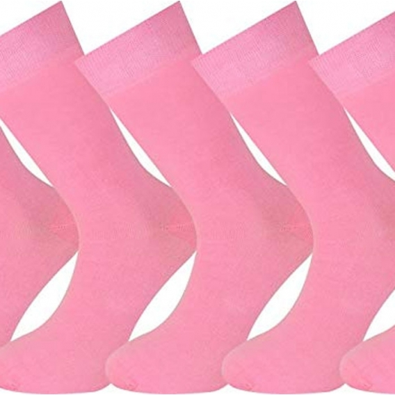 Calcetines Lisos color Rosa para mujer y Hombre Talla 35 36 37 38 39 40 41