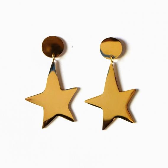 Pendientes BDM mujer de Estrella para regalo de Acero joya antialergicos