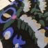Calcetín para hombre y mujer, 100% algodón, color negro estampado de flores, talla 40-46