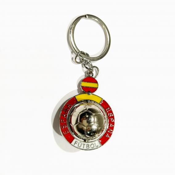 Llavero de balon de Bandera de España para regalos hombre originales de marca y coche