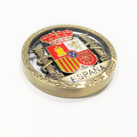 Imán para nevera metálico con bandera de España