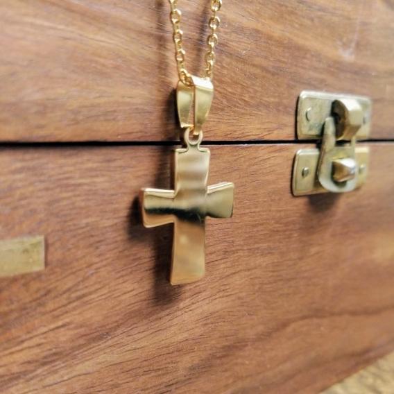 Collar de joyeria para mujer fashion con cruz de acero inoxidable colgante accesorios