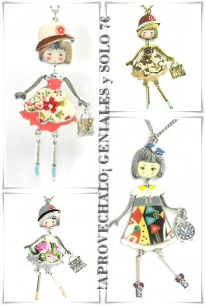 Colgantes de muñecas y muñequitas