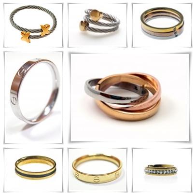 anillos de acero antialergicas