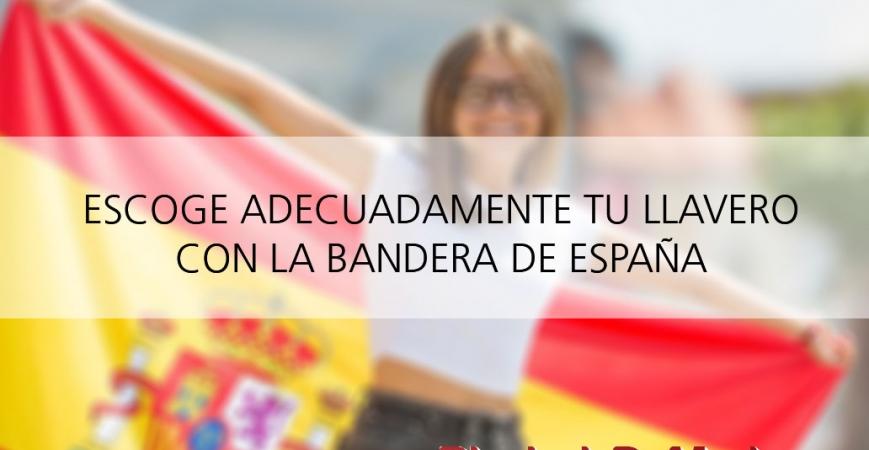 Llaveros con la bandera de España