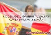 Llaveros con la bandera de España para personalizar tus llaves