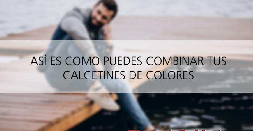 Calcetines de colores lisos hombre