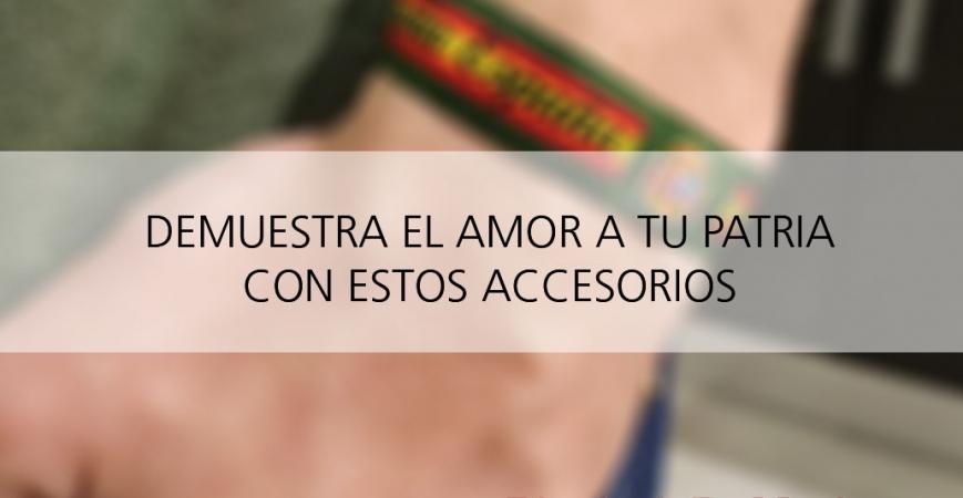 Pulseras elásticas para guardia civil con bandera de España