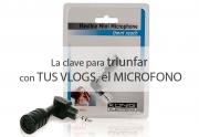Micrófonos para móvil y USB usados para vlogs en línea u online